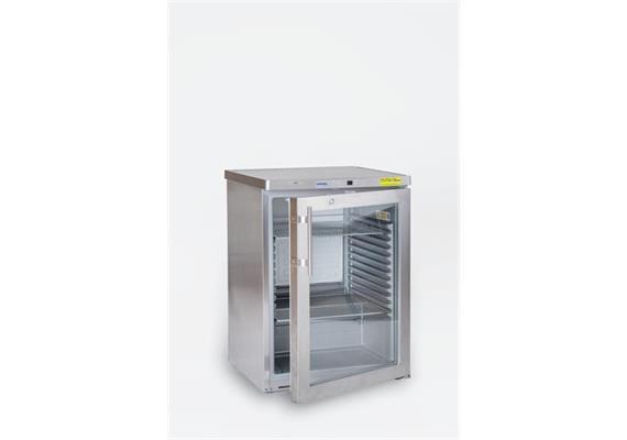 Kühlschrank CNS Getränke mit Glastür 130 Liter