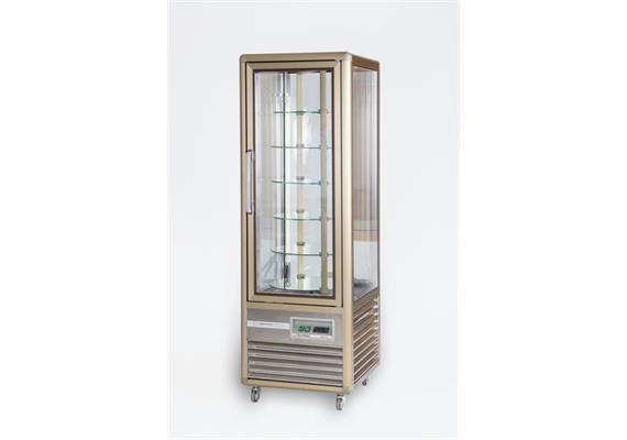 Kühlvitrine für Patisserie drehbar 4 Tablar rund