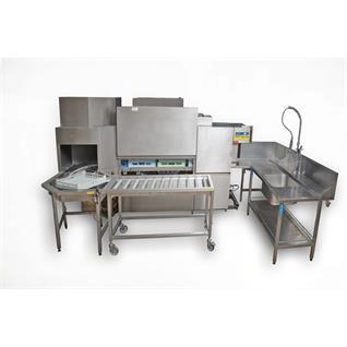 Abwaschmaschine Korbdurchlauf mit Ein- u. Auslauftisch