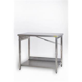 Arbeitstisch CNS 1m mit 1 Tablar höhenverstellbar