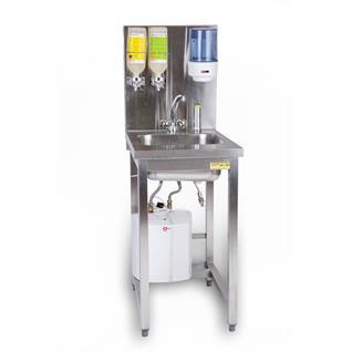 Handwaschgelegenheit mit Halterungen und Boiler