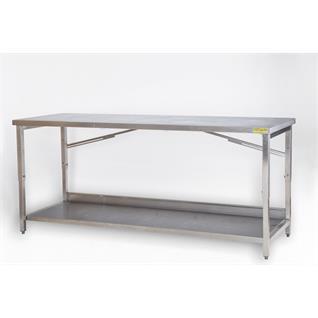 Arbeitstisch CNS 2m mit 1 Tablar höhenverstellbar