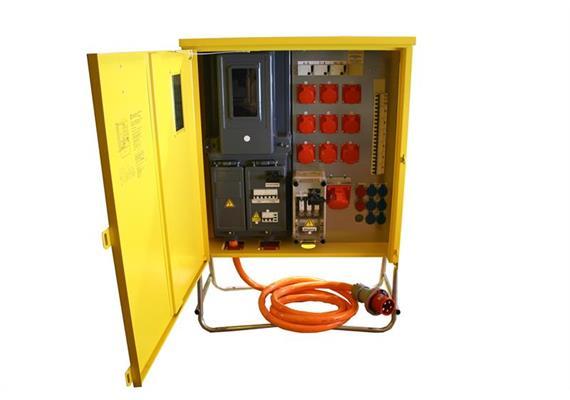 Baustromverteilerkasten 125 Amp. (gelb)
