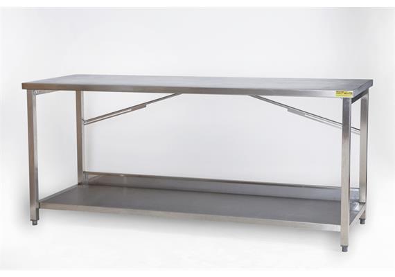 Arbeitstisch CNS 2m mit 1 Tablar